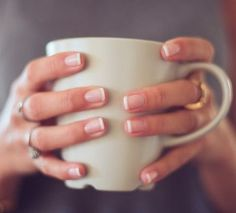 cant believe im pinning this! but i think they are back in style. Classic French Manicure ♥