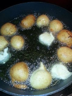"""BONELOS AGA aka Banana donuts, """"Chamorro Style""""! These are traditional island treats made of a sweet banana batter, fried up to a golden brown. They're fast, they're easy,…"""
