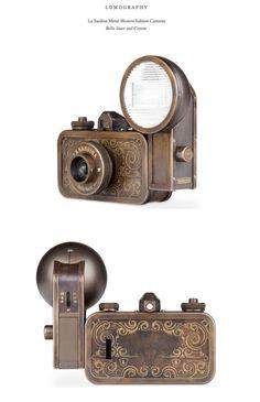 Lomography - La Sardina Metal Western Edition -- Montserrat Llaurado  San Francisco, CA, USA Antique Cameras, Vintage Cameras, Steampunk, Camera Equipment, Light Camera, Lomography, Photography Camera, Leica, Dark Art