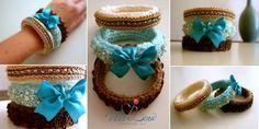 Knitted Bracelets KB 12 WINTER MOOD Set of 3 by Vladilenashandmade, $20.00