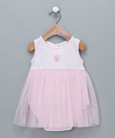 Loving this Pink Bouquet Tulle Pima Bodysuit - Infant on #zulily! #zulilyfinds