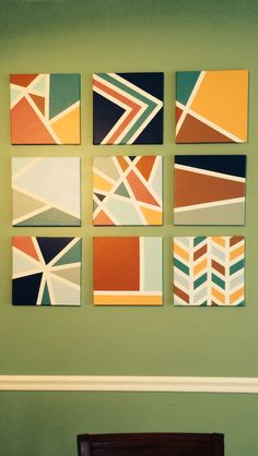 DIY canvas for home Small Canvas Paintings, Easy Canvas Art, Small Canvas Art, Mini Canvas Art, Diy Canvas, Painters Tape Art, Tape Painting, Diy Painting, Geometric Art