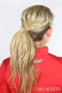 Good Looking And Practical Workout & Gym Hairstyles -Braided Ponytail Workout Hairstyles, Twist Hairstyles, Ponytail Hairstyles, Pretty Hairstyles, Running Hairstyles, Volleyball Hairstyles, Men's Hairstyle, Hairstyles For Swimming, Hairstyles For Working Out