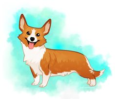 A stylized digital painting of a single pet, hand painted to capture your pet's likeness and personality.