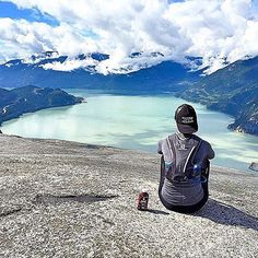 "Dirtbag Runners on Instagram: ""Epic view at Stawamus Chief Provincal Park in Canada! Also a pretty sweet view of @livefreehealth rocking her DBR all black trucker hat  looooovvvvvveeee it. PC: @juice_matters #dirtbagrunners #canada #truckerhat #granite #lake #workforyourview #britishcolombia #trailrunning #trek #climb #vertical #glaciers #getoutside #natureisrad"""