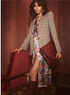 eea94c48a2322c Zendaya channels the as she models a chic dress and plaid jacket for her  TommyXZendaya collection. (Courtesy of TOMMY HILFIGER) -- HollywoodLIfe