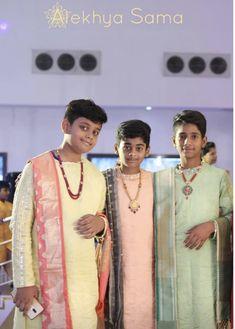 Half Saree Designs, Kurta Designs, Blouse Designs, Indian Boy, Indian Groom, Kids Dress Wear, Kids Wear, Bead Jewellery, Men's Jewelry