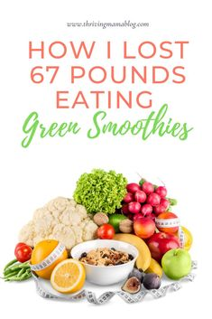 "Drinking green smoothies for weight loss and energy is probably the biggest diet ""secret"" out there. I completely turned my health around and lost 67 pounds postpartum using this easy way of eating. Easy Diet Plan, Healthy Diet Plans, Diet Plans To Lose Weight, Healthy Snacks, Healthy Recipes, Healthy Smoothies, Healthy Moms, Detox Smoothies, Easy Recipes"