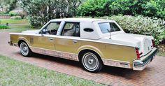 1982 Lincoln Mark VI sedan Emillo Pucci Edition. Gold Moondust Metallic over White.