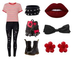 """""""Punk Red"""" by alivia-yates on Polyvore featuring Dr. Martens, Valentino, Lime Crime, Chanel and Miss Selfridge"""