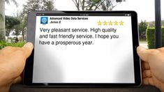 Advanced Video Data Services FairfieldTerrific5 Star Review by James B.