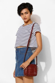 Urban Renewal Vintage Woven Leather Bag