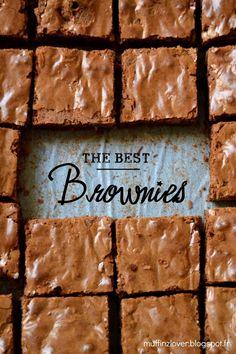 Recette Brownies chocolat & noix - muffinzlover.blogspot.fr Chocolate Brownie Cookies, Brownie Bar, Lemon Curd, Beignets, Cookies Et Biscuits, Keto Snacks, Original Recipe, Recipies, Puddings
