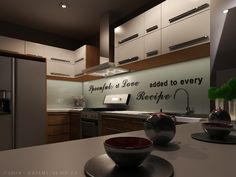 Season everything with love ❤ Kitchen designed by. Valentine Oriza