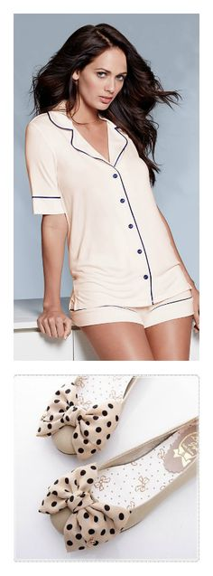 Ivory pajama set from Adore Me Lingerie http://my.adore.me/x/isOkkm