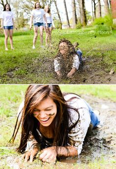 I just went water/mud sliding in our ditch for the very first time. <3 Oh, the fun you can have doing something you would never normally do!
