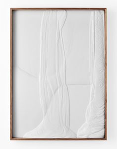 """Anthony Pearson Untitled (Plaster Positive) 2013 Hydrocal in walnut frame 59 ¾"""" x 43 ¾"""" x 3 ½"""" Traditional Paintings, Contemporary Paintings, Painted Rug, White Aesthetic, Art Blog, Painting Inspiration, Framed Art, Wall Art, Diy Art"""