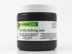 """Oh My Aching Jaw - One of our newest additions to the """"Oh My Aching"""" line of glutathione balms, our Jaw formulation incorporates nano-technology (to increase absorption) along with the finest ingredients prepared in an exceptional manner (Secundum Artem) for outstanding relief from jaw pain."""