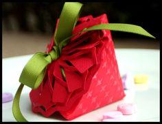 strawberry favor box using Scor-pal and Spellbinders dies