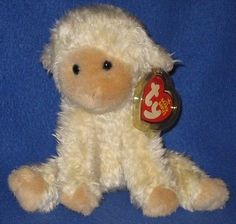 bac4e1df868 TY MEEKINS the LAMB BEANIE BABY - MINT with MINT TAGS Original Beanie Babies