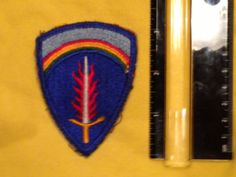 Army Europe  Military Patch sword patch rainbow