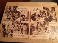 SHIRLEY TEMPLE - Vintage 1930s  Article - 2 Pages