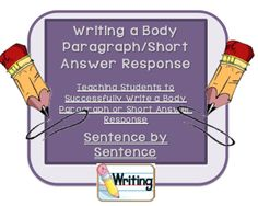 Body Paragraph & Short Answer Writing-Teaching the Acronym TALES from English, Oh My! on TeachersNotebook.com -  (2 pages)  - Body Paragraph & Short Answer Writing-Simplifying the Process of Writing-Using the Acronym TALES
