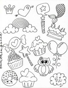 Doodle 2, Doodle Drawings, Cute Drawings, Bullet Journal Lettering Ideas, Drawing Frames, Love Cards, Stamping Up, Diy Painting, Painted Rocks