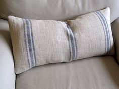 FRENCH LAUNDRY  Grain Sack 12x25 sofa pillow  in French by yiayias, $59.00