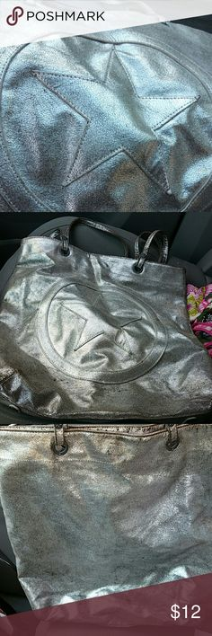 Converse leather bag Great silver converse large bag. Converse Bags Totes