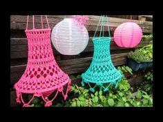 Boho Crochet, Crochet Home, Crochet Flowers, Crochet Bikini, Creative Crafts, Diy Crafts, Crochet Lampshade, Pattern Library, Decoration