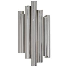 Regina Andrew Hero Wall Sconce ($348) ❤ liked on Polyvore featuring home, lighting, wall lights, tube sconce, tube light, metal sconces, tube lights and metal lamp