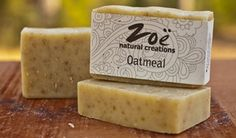 Oatmeal Bar | Zoe Natural Creations {www.zoenaturalcreations.com} #Natural #organic #skincare #zoenaturalcreations #soap #body #beauty #health #ingredients
