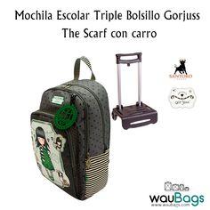 """0f58e2c01 Consigue la Mochila Escolar Triple Bolsillo Gorjuss con el diseño """"The  Scarf con carro por"""