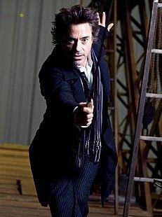 Robert Downey Jr. as Sherlock Holmes, 2009.