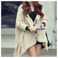 Get this coat on @Wheretoget or see more #coat #beige_cardigan #button_down #knitted_cardigan #oversized_cardigan #fall_fashion