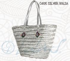 C406 SILVER BOLSA Casual, resistente y muy fashion; ideal para la noche o el día