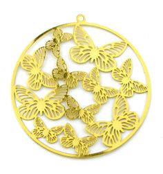 2pcs Large 52mm Gold Plated Butterfly by FancyGemsandFindings, $5.50