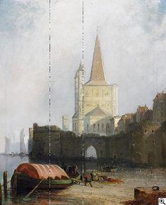 James Webb: Köln. Am alten Hafen vor Groß Sankt Martin, 1886