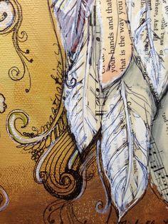 Angel Wings custom order 11x14 on canvas door MichelleLakeArt