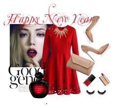 """""""NYE Dance Party"""" by lejlaaa1996 ❤ liked on Polyvore featuring Chicwish, Christian Louboutin, Alexis Bittar, Charlotte Tilbury, NARS Cosmetics and Christian Dior"""