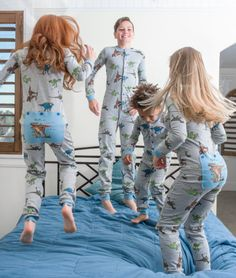 """This one piece pajama, in the classical union suit design, features a T-REX and reads reads """"RAWR means I love you in dinosaur"""" on a non-functioning blue Butt Flap. You might like the Stay Cool union suit from Big Feet. Onesie Pajamas, Boys Pajamas, Mädchen In Leggings, Pvc Hose, Girl Dinosaur, Union Suit, One Piece Pajamas, Boys Underwear, Baby Pants"""