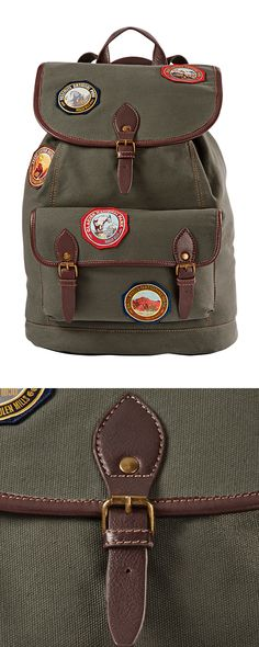 Get ready to kick  your backpacking expertise into high-gear with this attractively functional rucksack. Featuring badges from America's greatest national parks, it's a celebration of nature and a hand...  Find the Voyager Rucksack by Pendleton, as seen in the The Outdoor Outfitter Collection at http://dotandbo.com/collections/holiday-boutiques-the-outdoor-outfitter?utm_source=pinterest&utm_medium=organic&db_sku=113301