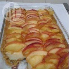 Torta de maçã com creme Mais