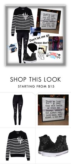 """Please don't go"" by summer0401 ❤ liked on Polyvore featuring Each X Other, Converse, Love Quotes Scarves, women's clothing, women, female, woman, misses and juniors"