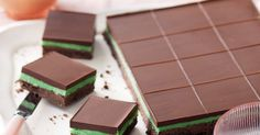 This pretty-as-a-picture Choc-peppermint slice is perfect for afternoon tea.
