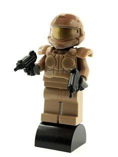 Custom LEGO Minifig Halo  Master Chief  with Dark Tan Armour