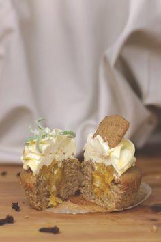 Spekulatius-Orangen-Cupcakes mit Rosmarin