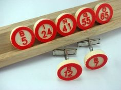Bingo cufflinks.