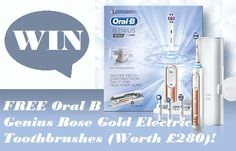 Win Free Oral-B Genius 9000 Rose Gold Electric Toothbrush worth 279.99